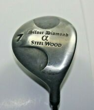 Silver Diamond Alpha Steel Wood #7 Fairway Wood Right Hand Steel Shaft 40""
