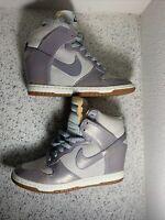 Nike Dunk Sky High 543257-001 Ice Blue Metallic Wedge Shoes Women's Size 6.5