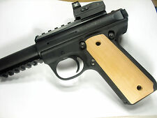 Unfinished Cherry Ruger Mark III 22/45 Grips MK 3