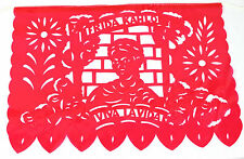 Set of five (5) Frida Kahlo theme Mexican papel picado banners bunting paper