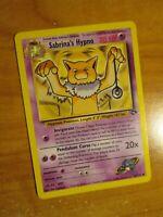 NM (Unlimited) Pokemon SABRINA'S HYPNO Card GYM CHALLENGE 56/132 UNCOMMON