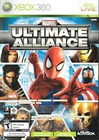 Xbox 360 Live Game - Marvel: Ultimate Alliance - Complete With Booklet Manual