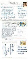 Greece D19z 3 Postcards View used 90s yrs Machine cancel