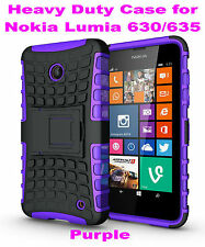 Purple Heavy Duty Strong Tradesman TPU Case Cover Stand For Nokia Lumia 630/635