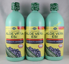 OFFERTA 3x1000ml ESI ALOE Vera SUCCO PURO FRESCO 100% con concentrato Mirtillo