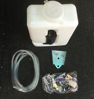 New Universal Plastic Windscreen Washer Bottle Kit 1.2L Rally Race Kitcar 4x4