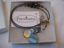 NEW Patchington Lariat Style Necklace Cut Bead and Abalone Western