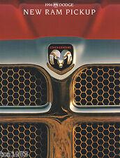 1994 Dodge RAM PICKUP TRUCK Brochure / Catalog; ST,LT,WS,SLT,1500,2500,LARAMIE,