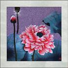 Exquisite Chinese SuZhou  Handmade Embroidery Art Painting The Lotus Flower