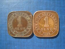 Straits Settlements - Cents 1919 & 1920.