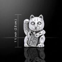 The Lucky Cat Maneki Neko .925 Sterling Silver Pendant by Peter Stone