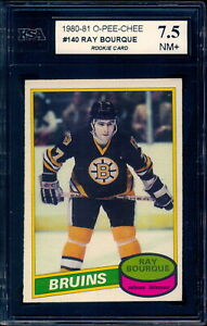 1980 OPC O PEE CHEE Graded #140 RAY BOURQUE RC KSA 7.5 NM+ Boston Bruins Rookie