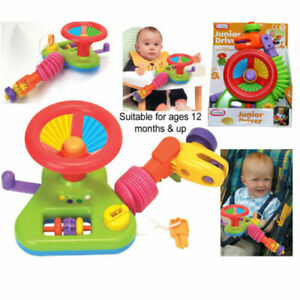 JUNIOR DRIVER CAR Steering Wheel Activity Toy Buggy Stroller Baby Seat 12 Month+