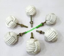 Nautical Jute Rope Door Knob Set Of 6 Handle Drawer Pulls Furniture decor Item