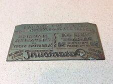 Antique Advertising Printing Plate Metal Newspaper Omaha Nebraska Paramount