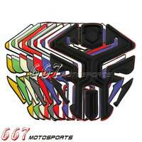 Motorcycle Gas 3D Fuel Oil Tank Pad Protector Decal Kit Sticker Rubber Universal