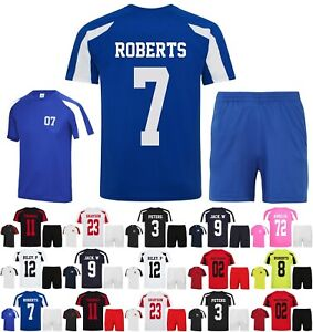 Kids Personalised Football Kit (T-Shirt & Shorts) Custom Sports Team Club Name