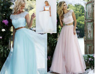 Two Pieces Formal Bridesmaid Dress Ball Gown Evening Party Cocktail Prom Dresses
