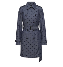 Banana Republic Chambray Polka Dot Trench Coat Size XS