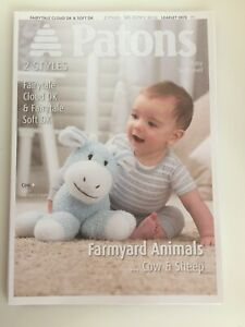 Knitting pattern ~ Farmyard Animals ~ Cow & Sheep ~ Patons 3973