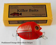 Custom made Punkinseed, Orange Silver Shore, Private Collection by Killer Baits