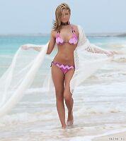 Bikini-Set  Push up Neckholder Bademode Damen Bandeau-Form Gr. 34/36 Cup B  Pink