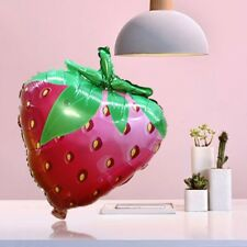 Inflatable Strawberry Fruit Foil Balloons Summer Theme Party Kids Birthday Decor