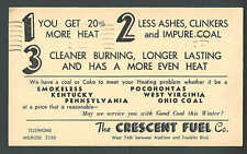 1936 PC CLEVELAND OH THE CRESCENT FUEL CO SELLS COAL & COKE