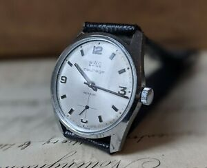 Gents Vintage BWC Swiss Courage Sunburst Subsidiary Dial 35mm Watch - Working