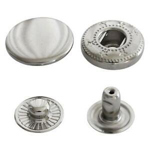 10 Sets de boutons pression rivet 12 mm métal étuis anorak maroquinerie cuir