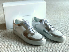 NIB $475 - COMMON PROJECTS BBALL LOW DUO TONE WHITE & SILVER  Sz 10