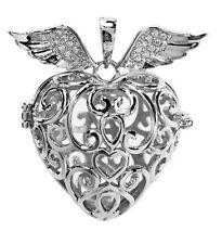 Colgante corazón con alas klangsphären aa2003 plata para bolas SONIDO Jaula