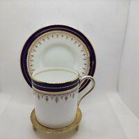 Aynsley 1646 Cobalt Blue Gold LEIGHTON  Demitasse Cups & Saucers Set England