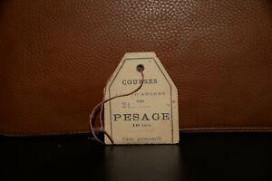 PMU HIPPISME SOCIETE DES COURSES DU LION D'ANGERS CARTE DE PESAGE ANNEE 1901