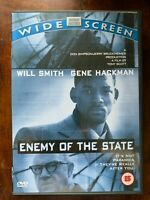 Enemy Of The Stato DVD 1998 Cospirazione Thriller Azione Film W/ Will Smith