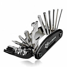 RockBros Black Bike Repair Tool Bike Pocket Multi Function Folding Tool 16 in 1