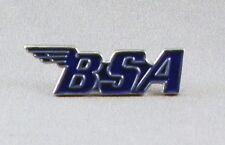 BSA - PIN BADGE  - BIKE BIKER MOTORBIKE CLASSIC BRITISH  MOTORCYCLE BLUE (NB-37