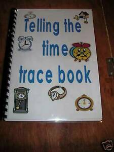LEARNING TO TELL THE TIME TRACE BOOK WIPE CLEAN USE AGAIN & AGAIN  free post