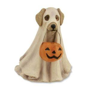 "SPOOKY GHOST DOG Halloween Costume Figurine, 3.75"" Tall, by Bethany Lowe"