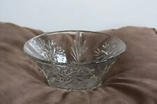 antique Victorian English glassware dessert serving bowl