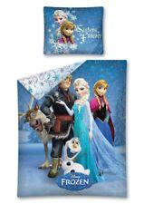 Frozen Elsa Anna Set Lenzuola 140x200cm Copripiumino Singolo in cotone Bambini