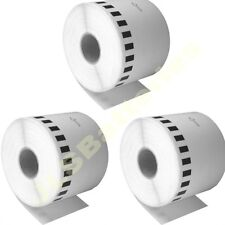 3x 62mm continuo Roll Only DK22205 QL500 QL 550 560 Brother dk-22205 Etiquetas