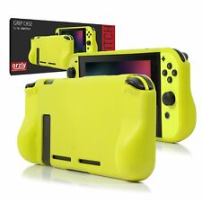 Orzly Comfort Grip Case for Nintendo Switch - NEON YELLOW