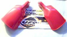 UFO PLAST 115211 NOS RED PLASTIC UNIVERSAL HAND GUARDS FOR DRUM BRAKE MODELS