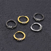 Fashion Simple Punk Stainless Steel Men's Women's Hoop Circle Earrings Ear Studs