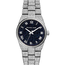 NEW MICHAEL KORS MK6089 Channing Black Crystal Pave Stainless Steel Wrist Watch