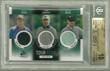 2014 SP Game Used Nick Faldo Fred Couples David Duval  BGS 10 X 3 PRISTINE POP 1