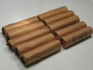 10 BU Original OBW Rolls of 1968-s Lincoln Pennies - Some Paper Rips.  #12