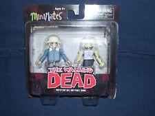 Minimates Winter Coat Dale & Female Zombie Series 1 Walking Dead NIB