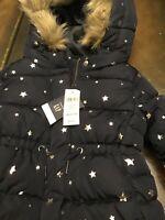 Baby Gap 12-18mo Faux Fur Winter Coat New/wtags Blue/Silver